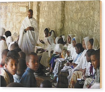 Ethiopian Orthodox Teachings Wood Print by Cherie Richardson