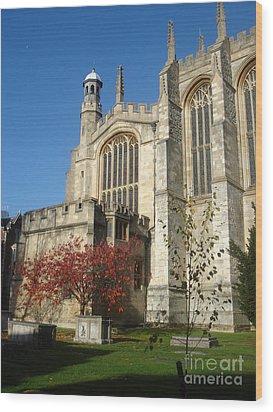 Eton College Chapel Wood Print by Erin Sloneker
