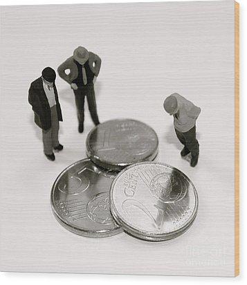 Euro Crisis Wood Print by Louise Fahy