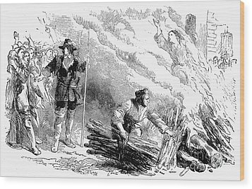 Europe: Witch Burning Wood Print by Granger