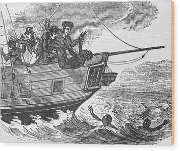 European Sailors Throwing African Wood Print by Everett