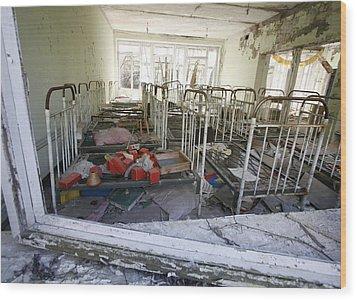 Evacuated Kindergarten Near Chernobyl Wood Print by Ria Novosti