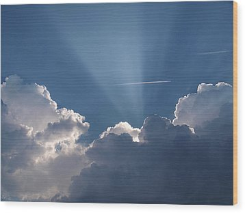 Even Through The Clouds You Will Find A Ray Of Sunshine Wood Print