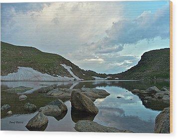 Evening At Summit Lake Wood Print by Stephen  Johnson