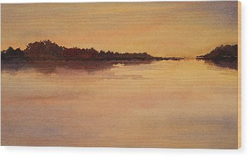 Wood Print featuring the painting Evening Glow by Vikki Bouffard