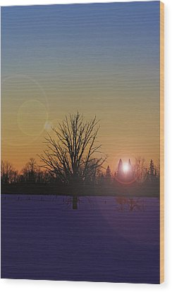 Wood Print featuring the photograph Evening by Josef Pittner
