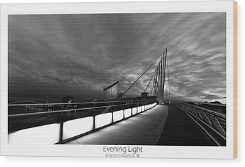 Wood Print featuring the photograph Evening Light by Beverly Cash