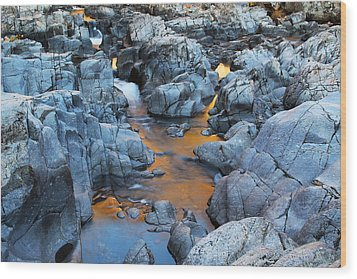 Evening Light On The Black River At Johnsons Shut Ins State Park IIi Wood Print by Greg Matchick