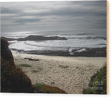 Evening Ocean Surf Wood Print by The Kepharts