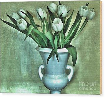 Evening Party Tulips Wood Print by Marsha Heiken
