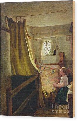 Evening Prayer  Wood Print by John Bagnold Burgess