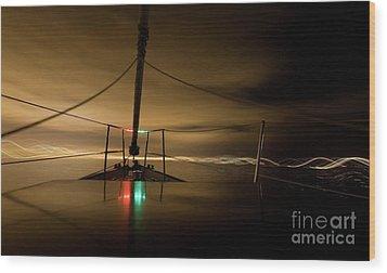 Evening Sail Wood Print by Matt Tilghman