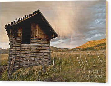 Evening Storm Wood Print by Jeffrey Kolker