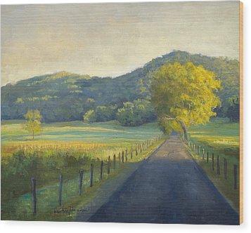 Evening Stroll Wood Print by Jonathan Howe