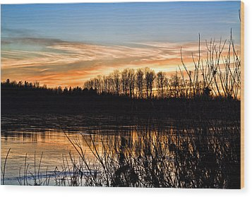 Evening Sunset Wood Print by Gary Smith