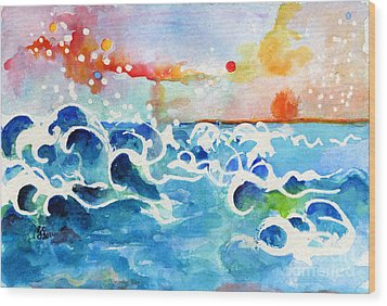 Evening Tide Wood Print by Ginette Callaway
