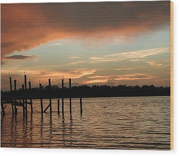 Everglades Sunset Wood Print