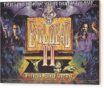 Evil Dead II, Left, Bruce Campbell Wood Print by Everett