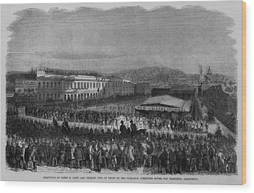 Execution Of James P. Casey And Charles Wood Print by Everett