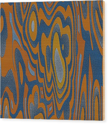 Wood Print featuring the digital art Exhalatio by Jeff Iverson