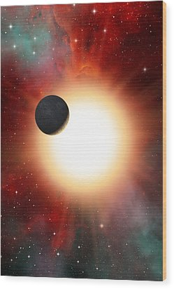 Exoplanet And Parent Star, Artwork Wood Print by David Ducros