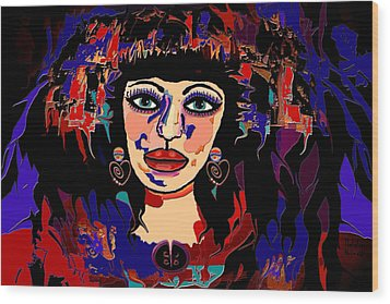 Exotic Woman Wood Print by Natalie Holland