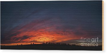 Expansive Sunset Wood Print