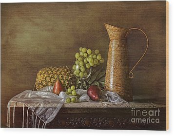 Exploring Still Life Wood Print by Sari Sauls