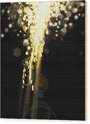 Explosion Of Lights Wood Print by Setsiri Silapasuwanchai