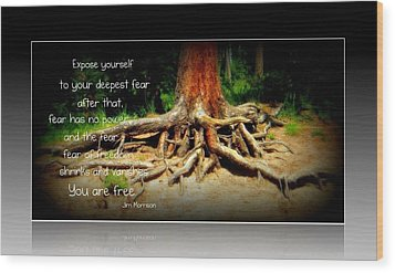 Wood Print featuring the photograph Expose Yourself by Michelle Frizzell-Thompson