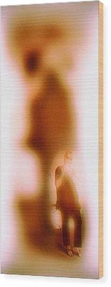 Exposing My Shadow Wood Print by Li   van Saathoff