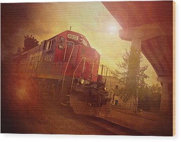 Express Train Wood Print by Joel Witmeyer