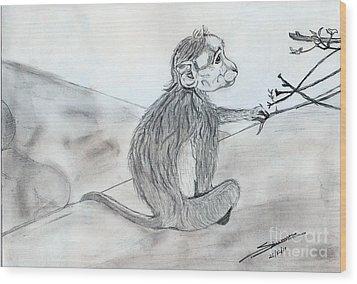Expression Wood Print by Shashi Kumar