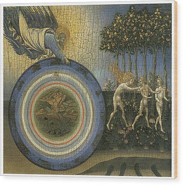 Expulsion From Paradise Wood Print by Giovanni Di Paolo
