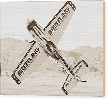 Extra 330 Wood Print by Arne Hansen