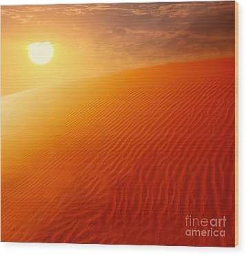 Extreme Desert Land Wood Print by Anna Om