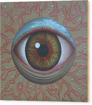 Eye Dew Wood Print by Sharon Ebert