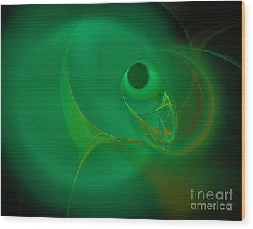 Wood Print featuring the digital art Eye Of The Fish by Victoria Harrington