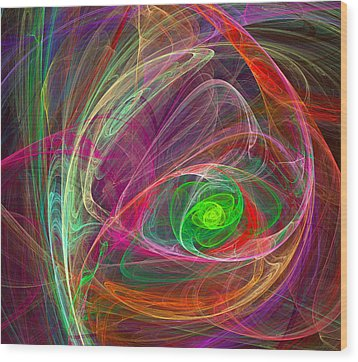 Eye Of The Storm Wood Print by Ricky Barnard