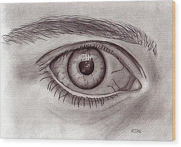 Eye Wood Print by Pat Moore