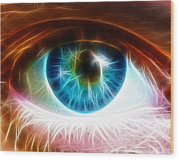 Eye Wood Print by Paul Van Scott