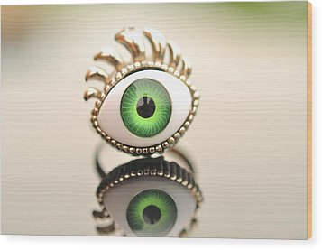 Eye Ring  Wood Print by Puzzles Shum