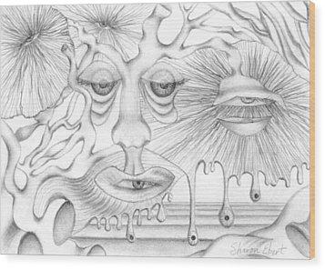 Eye Spies Wood Print by Sharon Ebert