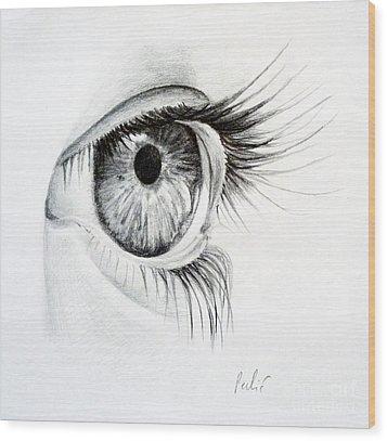 Eye Study Wood Print