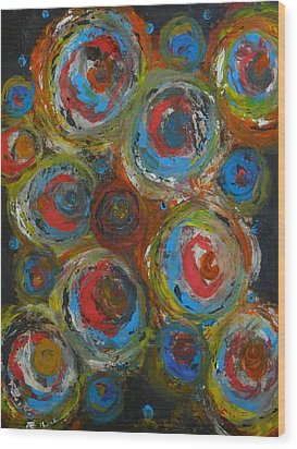 Wood Print featuring the painting Eyeball by Everette McMahan jr
