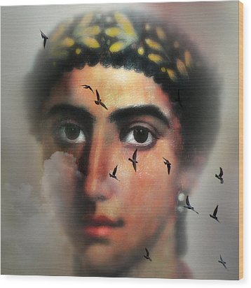 Eyes From The Past Wood Print by Mostafa Moftah