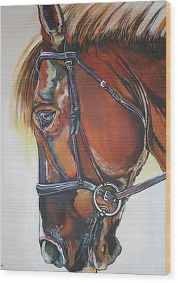 Eyes Tell A Story Wood Print by Stephanie Come-Ryker