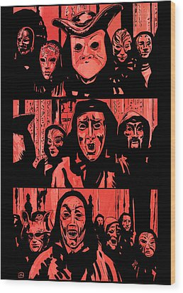 Eyes Wide Shut 1 Wood Print by Giuseppe Cristiano