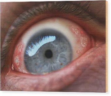 Eyesore Wood Print by Baron Dixon