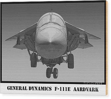 F-111e Aardvark Drawing Wood Print by Tim Mulina